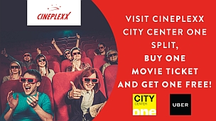 Visit Cineplexx, get one free ticket!